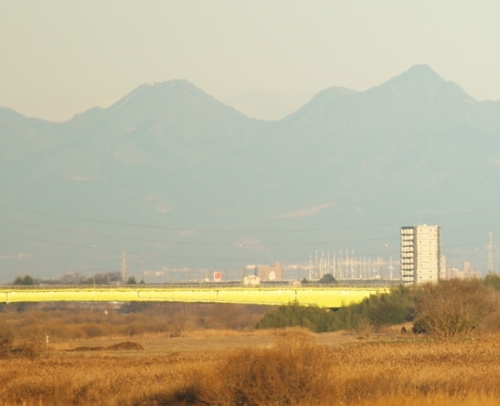 Harunafuji and Soumasan viewed from Panorama Park in Konosu, Saitama